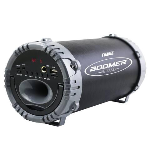 BOOMER IMPULSE LED Bluetooth Boombox - Black/Gray