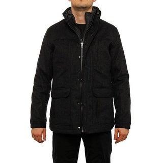 Elie Tahari  Button Out Down Vest Coat Basic Coat Charcoal