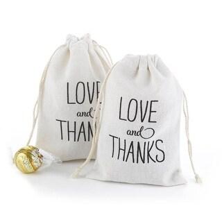 Hortense B. Hewitt 42250 Love & Thanks Cotton Favor Bags