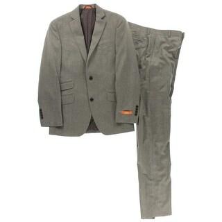 Tallia Mens Two-Button Suit Wool Blend Double Vent - 36R
