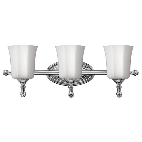 """Hinkley Lighting H5013 3-Light 24"""" Width Bathroom Vanity Light in Chrome from the Shelly Collection - N/A"""