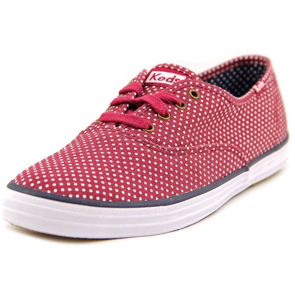 Keds Champion Micro Dot Women Round Toe Canvas Red Sneakers