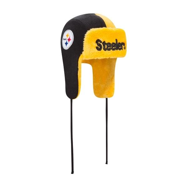 5f23d1656 Shop Pittsburgh Steelers Helmet Head Trapper Knit Hat - Free ...
