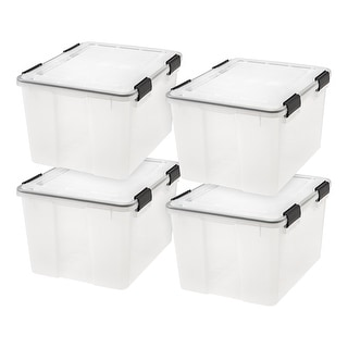 Link to 46 Qt. WEATHERTIGHT Storage Box in Clear (4-Pack) Similar Items in Storage & Organization