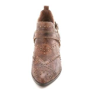 Donald J Pliner Womens Desta Pointed Toe Ankle Cowboy Boots