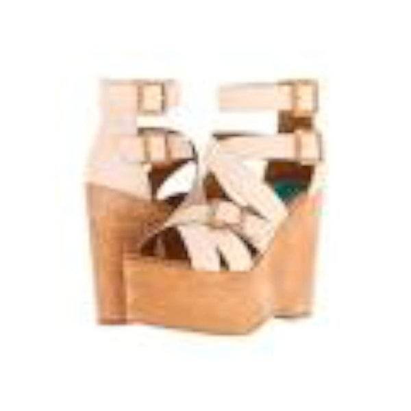 Fugu Malibu Womens Hanlow Open Toe Ankle Strap Wedge Pumps - 8.5