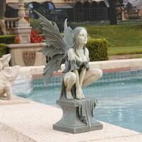 Design Toscano Celtic Fairy's Perilous Perch Garden Statue: Large