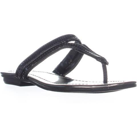 Bandolino Ronan Slip On Flip Flops , Black Metallic