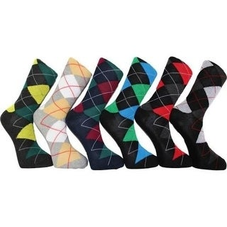 12 Pair Premium Cotton Men's Dress Socks