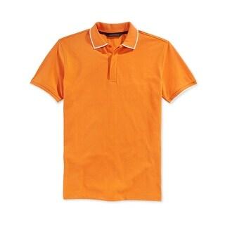 Sean John Mens Big & Tall Polo Shirt Pique Contrast Trim - 5xlt