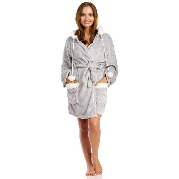 0a940bcffe Shop PJ Salvage Women s Cozy Robe With Hood - Free Shipping Today -  Overstock - 18608539