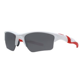 Oakley Half Jacket 2.0 XL OO9154-23 Polished White/Red Men's Sunglasses - polished white/red - 62mm-15mm-133mm