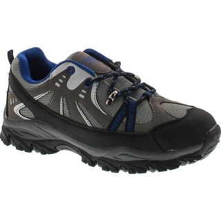 Air Balance Boys Black Grey Royal Hiking Shoes - black/grey/royal