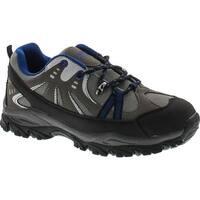 Air Balance Boys Black Grey Royal Hiking Shoes - black/grey/royal