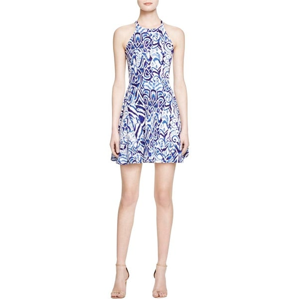 Aqua Womens Casual Dress Halter Pattern