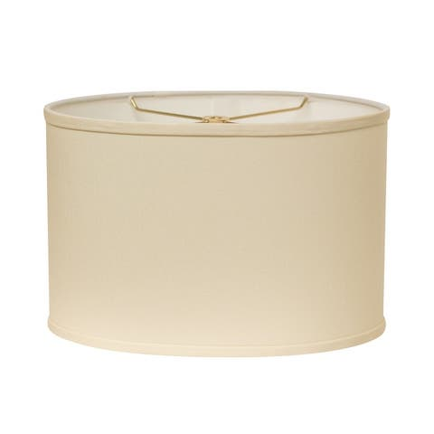 Cloth & Wire Slant Retro Oval Hardback Lampshade with Washer Fitter, Egg