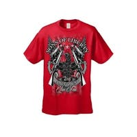 Men's T-Shirt Sons Of Liberty 2nd Amendment Live Free USA Guns Rifles NRA Tee