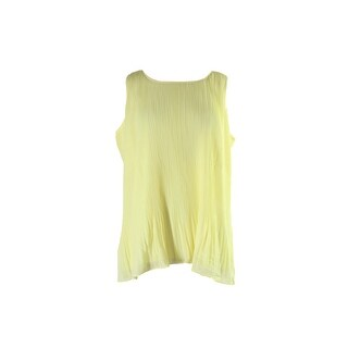 Alfani Yellow Sleeveless Pleated Peplum Blouse 12