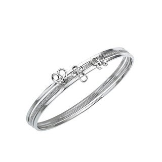 Jessica Simpson Diamond Stacking Bangle in Sterling Silver