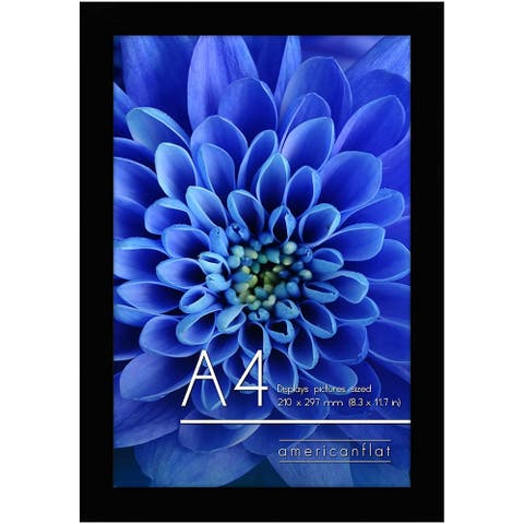 Americanflat A4 Picture Frame in Black Wood 8.3x11.7 inches