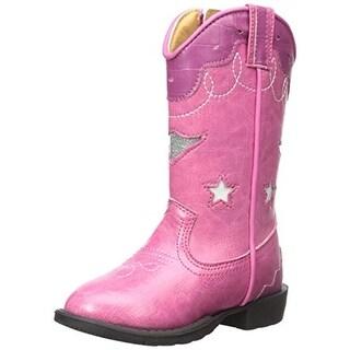 Smoky Mountain Girls Toddler Light Up Cowboy, Western Boots - 7.5 medium (b,m)