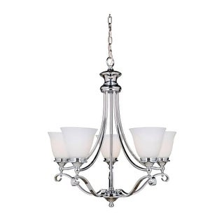 "Craftmade 39825 Chelsea 5 Light 30"" Wide Single Tier Chandelier"