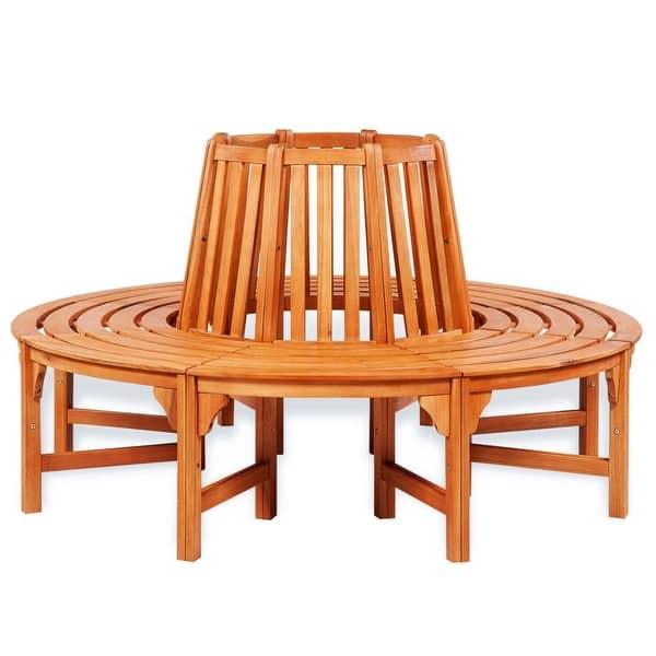 Tremendous Shop Vidaxl Solid Wooden Tree Bench Surround Garden Pdpeps Interior Chair Design Pdpepsorg