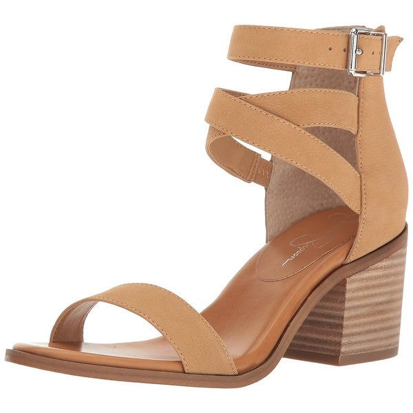Jessica Simpson Womens Rayvena Leather Open Toe Casual Strappy Sandals