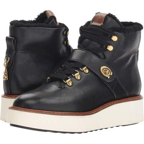 Coach Womens Urban Hiker Leather Closed Toe Ankle Fashion Boots