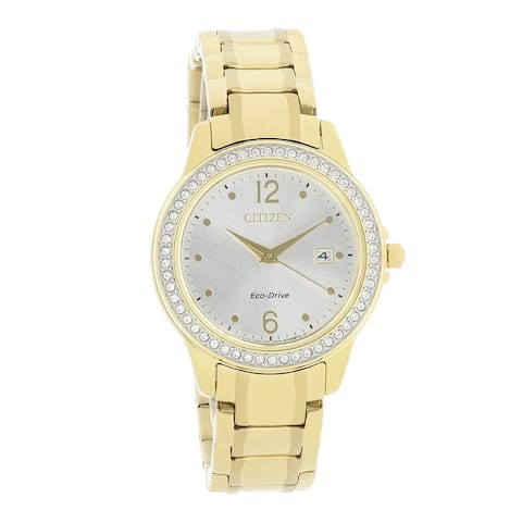 Citizen Women's FE1172-55Q 'Eco-Drive' Gold-Tone Stainless Steel Watch - Silver
