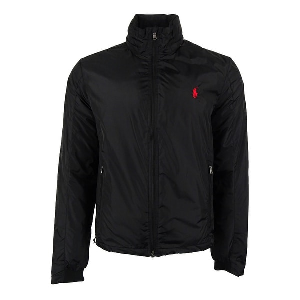Polo Ralph Lauren Men's Solid Nylon Jacket (M, Polo Black) - polo black - M