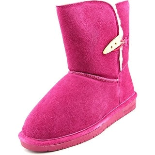 Bearpaw Abigail Youth Youth Round Toe Suede Pink Winter Boot