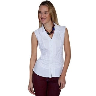 Scully Western Shirt Womens Cantina Sleeveless Button PSL-184