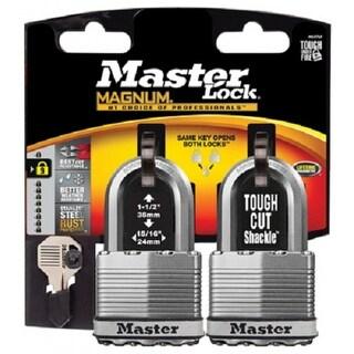 "Master Lock M5XTLFCCSEN Magnum Laminated Padlock, 2"", Stainless Steel"