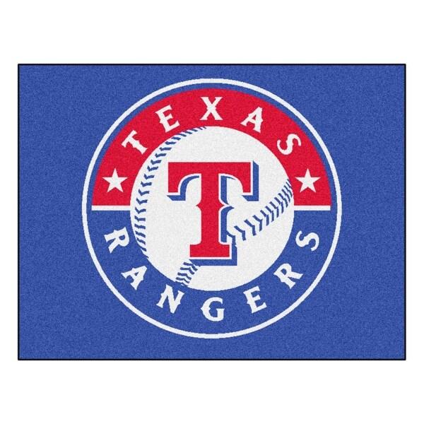 e55d6f68c MLB Texas Rangers All Star Non-Skid Mat Rectangular Area Rug