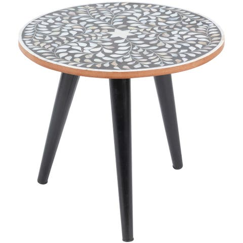 Carson Carrington Inverness Black Handcrafted End Table