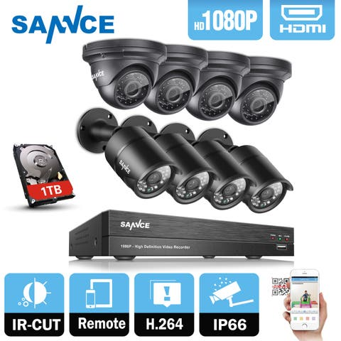SANNCE 8CH 1080P HD 5-in-1 DVR Video Surveillance Cameras System