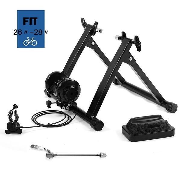 Costway Magnetic Indoor Bicycle Bike Trainer Exercise Stand 5 levels. Opens flyout.