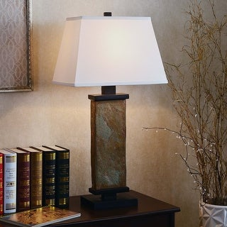 Link to Copper Grove Papineau 29-inch Natural Slate Table Lamp Similar Items in Table Lamps