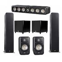 Polk Audio Signature 5.2 System with 2 S55 Speakers, 1 Polk S35, 2 Polk S20 Speakers, 2 Polk DSW PRO 550 wi Sub
