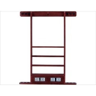 Wall Rack - 6 Cue with Score Counter Wine