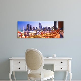 Easy Art Prints Panoramic Images's 'Navy Pier Chicago IL' Premium Canvas Art
