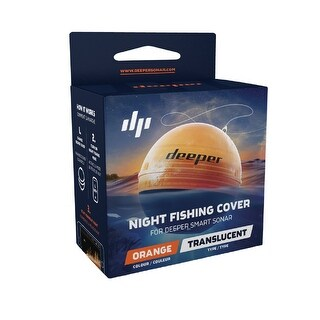 Deeper Night Fishing Cover Orange Compatible w/ Smart Sonars