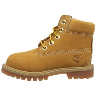 Kids Timberland Boys Classic 6 Premium Leather Ankle Lace Up Combat Boots - 1.0 m us youth