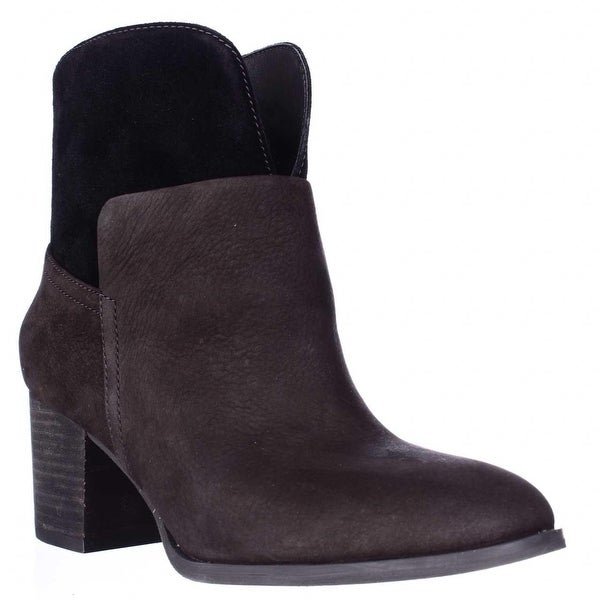 Nine West Womens DALE Leather Round Toe Ankle Fashion Boots