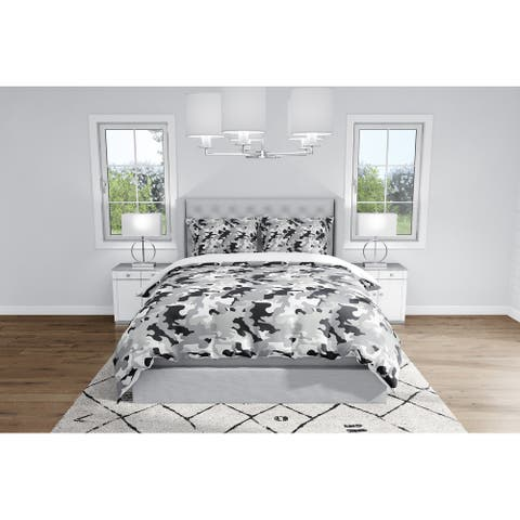CAMO FLOW GREY Duvet Cover By Kavka Designs