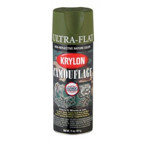 Krylon K04296000 Camouflage With Fusion Technology Spray Paint, 11 Oz