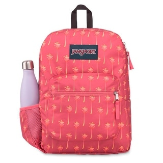 JanSport Cross Town 100% Authentic School Backpack With Front Pocket 13x8.5x17 - OS (Palm Icons)