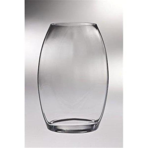 Classic Clear 85 In High Quality Glass Thick Oval Vase Free