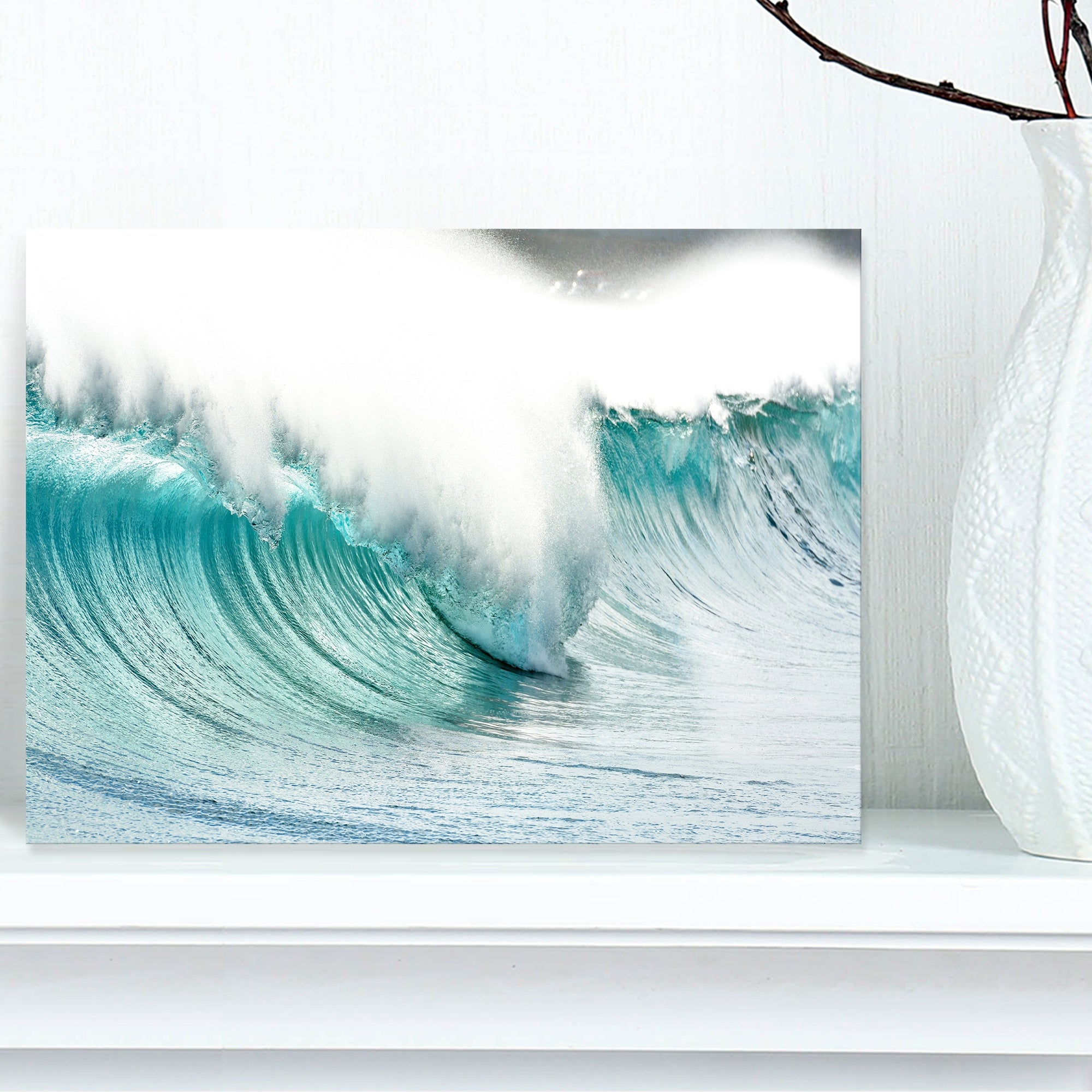 Massive Blue Waves Breaking Beach Contemporary Seascape Art Canvas On Sale Overstock 12211440